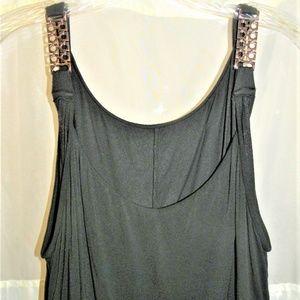 Lane Bryant Knit Top Sz 22/24 Chain Shoulder Strap
